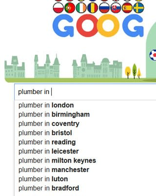 The keyword volume for plumbers searches