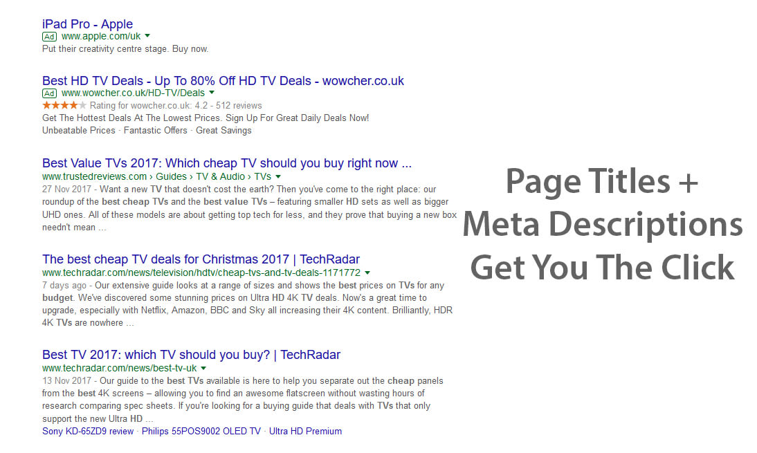 Your meta information gets people to click