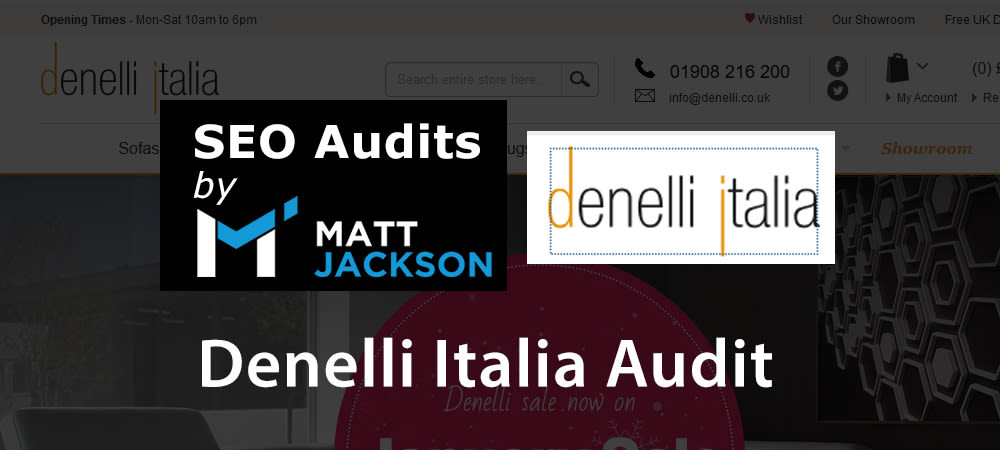 SEO Audit of Denelli.co.uk Italian Furniture Online Store