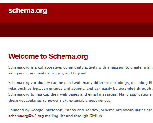 Schema.org website