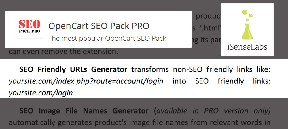 Convert bad opencart urls
