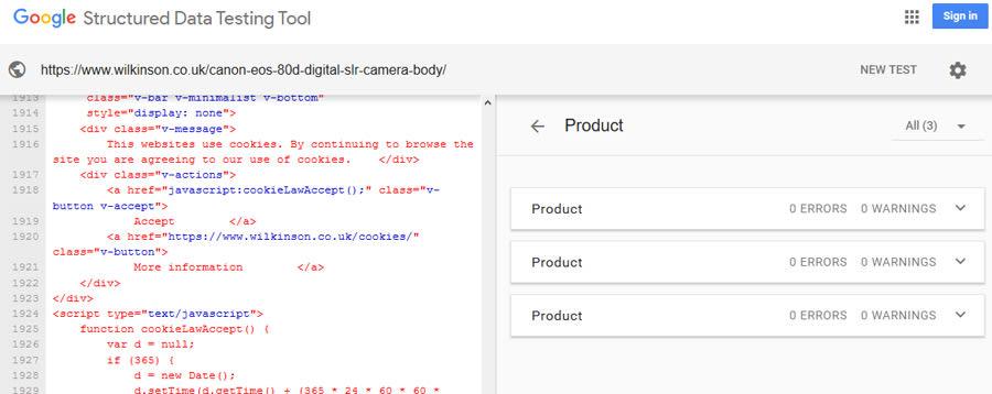 Duplicate Product Schema.org