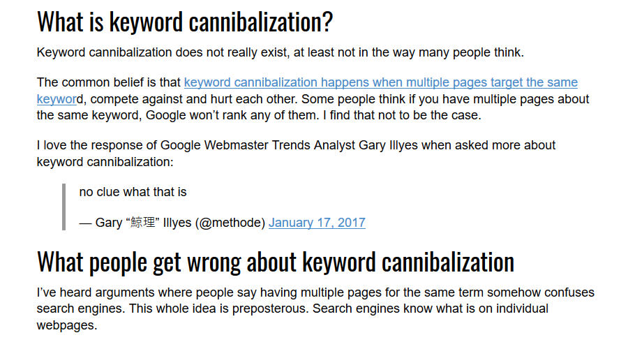 Search Engine Land Keyword Cannibal Article