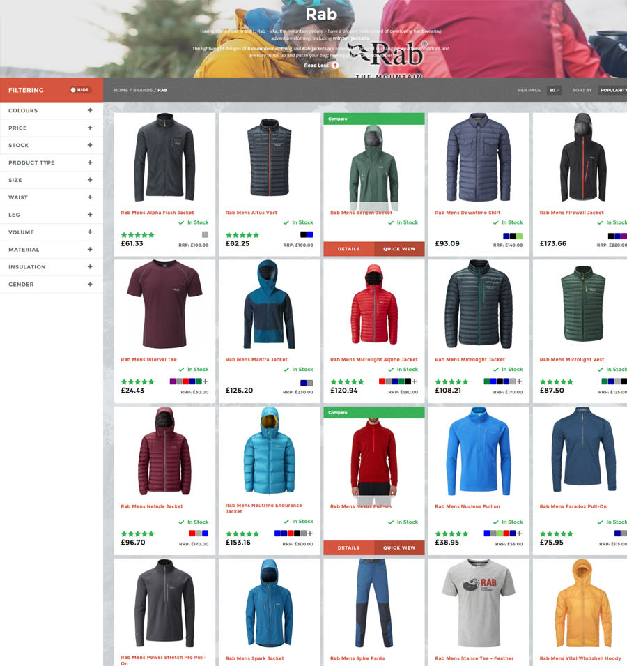 All Outdoor RAB page