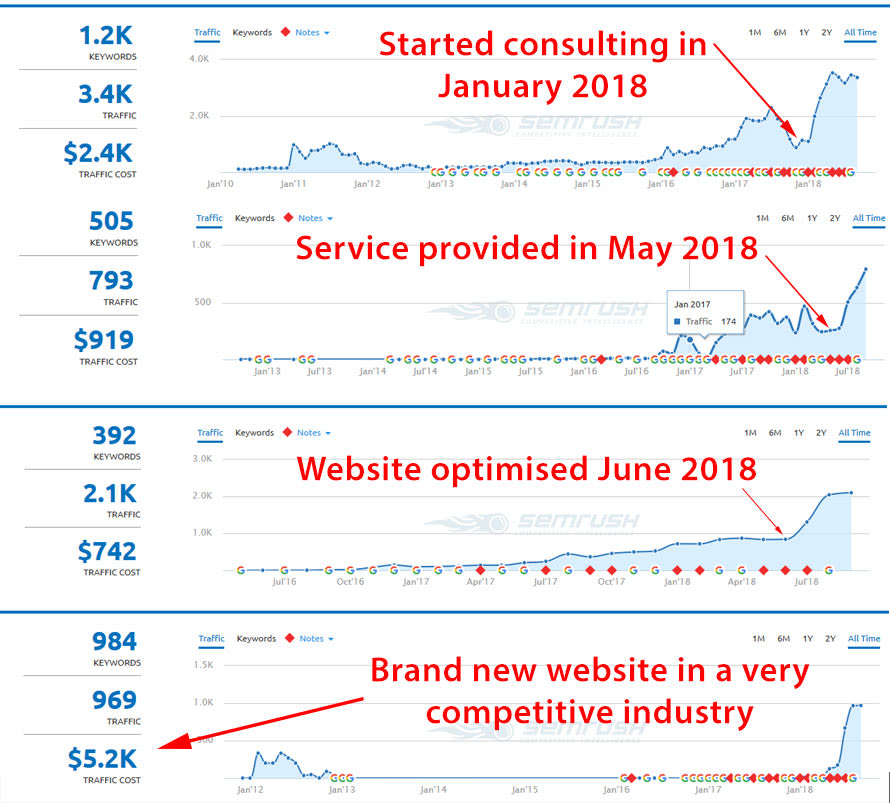 SEO Consulting results