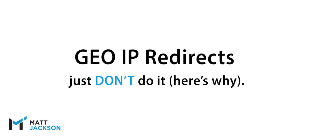 GEO Ip Redirects Seo