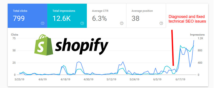 Shopify seo service example 2019