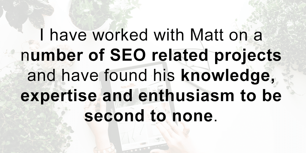 Matt Jackson has seo knowledge
