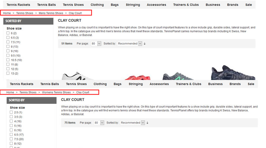 clay court tennis shoes duplicate pages