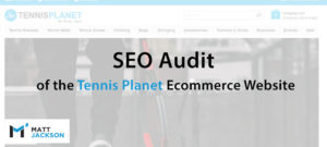 Audit de Tennis Planet Seo